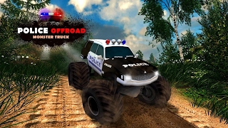 Offroad Police Monster Truck - Action Car Games - Videos Games for Kids - Girls - Android