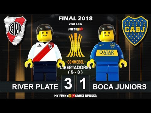 River Plate 3 x 1 Boca Juniors (5-3) Final Copa Libertadores 2018 • 09/12 All Goals Lego Football
