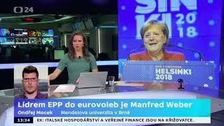 Lídrem EPP do eurovoleb je Manfred Weber