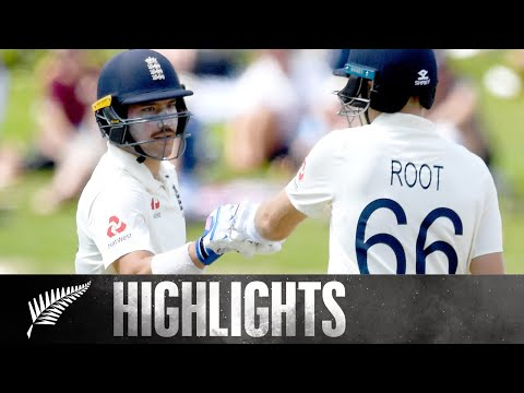 Burns and Root Crucial Partnership | HIGHLIGHTS | 2nd Test, Day 3 - BLACKCAPS v England, 2019