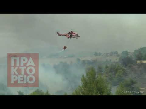 Πλησιάζει στο Σαλαμίδι η  πυρκαγιά στο Καπανδρίτι