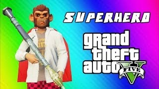 Download Youtube: GTA 5 Superhero Tryouts & Online Funny Moments (NEXT, Trains, Car Bomb, Poo Mechanic, Banana Bus)