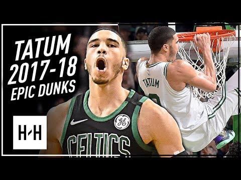 Jayson Tatum All BEST Dunks from 2017-18 Rookie Year Season!