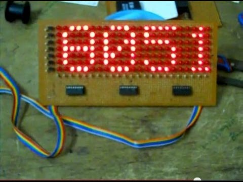 LED Scrolling message Display using 8051