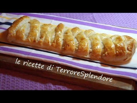 video ricetta: treccia di pasta sfoglia salata
