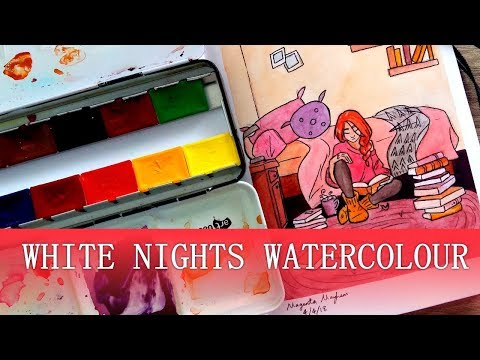 Trying White Nights Watercolour + Mini Review
