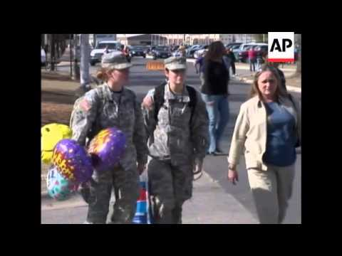 Killeen, Texas, welcomes back hundreds of soldiers who had been serving in Iraq and have strong opin