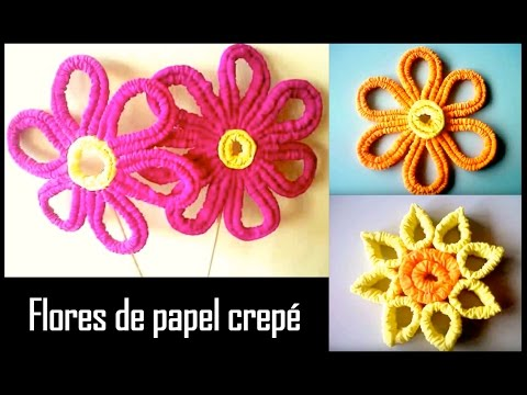 FLOR DE PAPEL CREPE modificado