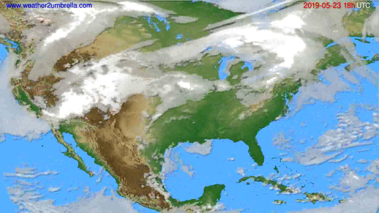 Cloud forecast USA & Canada // modelrun: 12h UTC 2019-05-21