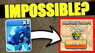 1 ELECTRO DRAGON Vs SHERBET TOWERS - IMPOSSIBLE - Clash Of Clans