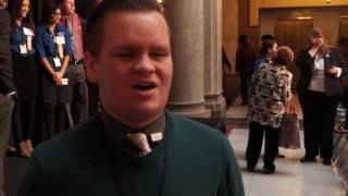 Still from video of a Jobs for America' Graduates (JAG) student speaking