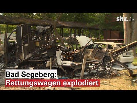 Feuer in Bad Segeberg: Rettungswagen explodiert