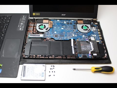 Acer Aspire V15 Nitro Black Edition VN7-591G-77A9 - SSD Einbau (Deutsch)