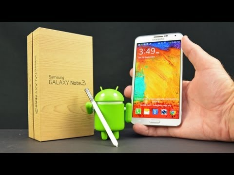 DetroitBORG - Detailed unboxing and review of the Galaxy Note 3 including a complete feature walkthrough with benchmarks and camera tests at the end. Available as: Samsung...