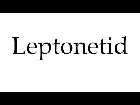 How to Pronounce Leptonetid