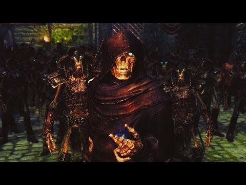 necromancer - Music : Two Steps From Hell - He Who Brings The Night. Mods : - Playable Skeleton : http://skyrim.nexusmods.com/mods/10622 - Necromancer Lair :...