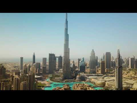 AMAZING BURJ KHALIFA AERIAL VIEW filmed by Sky Vision drone photography in Dubai