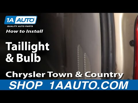 How To Install Replace Taillight and Bulb Chrysler Town & Country 04-07 1AAuto.com