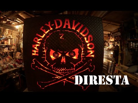 steel - Longevity sent me a plasma cutter. That same week a friend asked me to make a Harley-Davidson sign for his man cave. Here you see the results. I used a light strip I purchased at a local lighting...