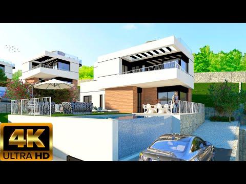 От 398000€/Новые дома в Финестрате/Новый дом в Бенидорме/Недвижимость в Испании 2020/ХайТек/Hi-Tech