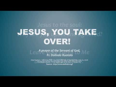 Jesus, You Take Over - Great prayer against worry and stress!