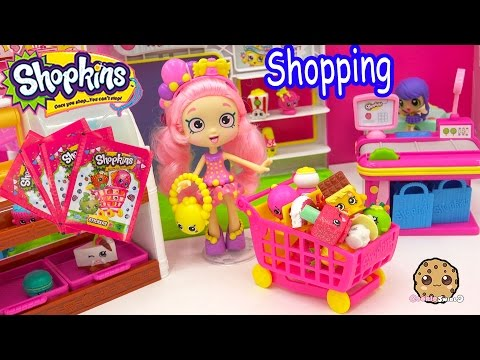 Shopkins Shoppies Doll Bubbleisha Small Mart Shopping with Stickers Blind Bags
