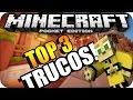 TOP 3 INCREÍBLES TRUCOS PARA MINECRAFT PE 0.14.0 BUILD 4, 5, 6, 7