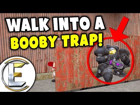 Garrys Mod - Walk Into A Booby Trap! - Gmod DarkRP Life (OP Power Armor and Weapon Instantly Kill Any Raider)