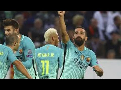 Borussia Mnchengladbach Vs FC Barcelona 1- 2 RESUMEN GOLES UEFA Champions League
