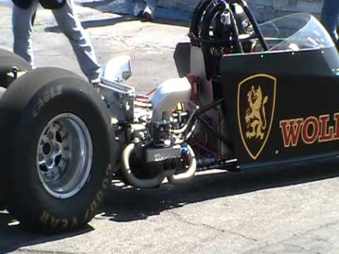 Flat four Engine - First run of nitro powered flat 4 vw dragster at Bug-O-Rama.Broke rocker assembly at take off,sounds great though.