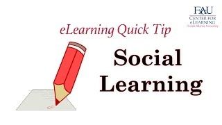 eLearning QuickTip - Social Learing Strategies