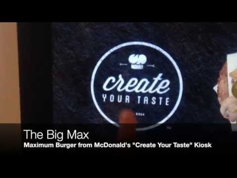 "McDonald's ""Create Your Taste"" Kiosk insane burger !"