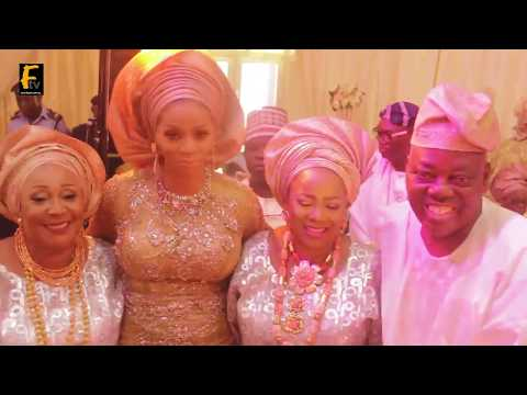 GEN. DIPO DIYA, RASAK OKOYA HIS DAMSEL WIFE AND OTHER DIGNITIES ATTENDS  OBA TEJUOSHO SON'S WEDDING