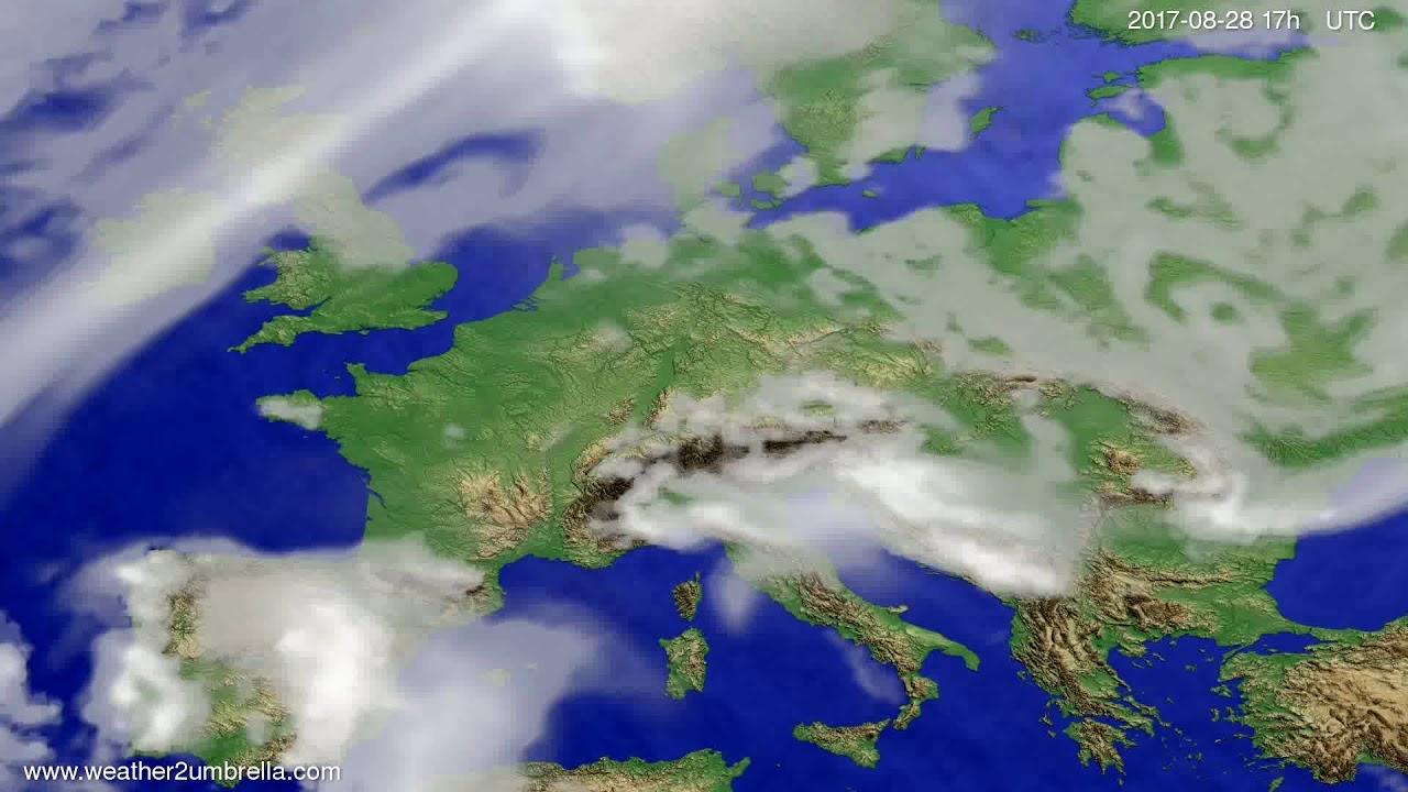 Cloud forecast Europe 2017-08-26