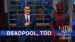 Video Deadpool Takes Over Stephen's Monologue MP3, 3GP, MP4, WEBM, AVI, FLV Mei 2018