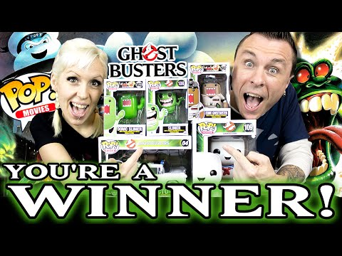WINNER Announcement: 5 Ghostbusters Funko POP Vinyls Giveaway!