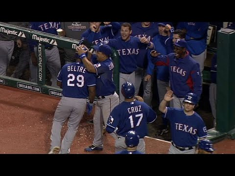 Video: TEX@CLE: Beltre launches a go-ahead blast in the 11th