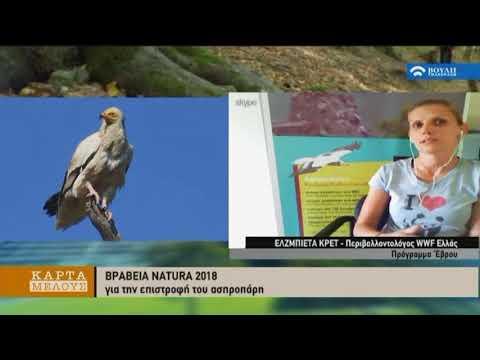 ΒΡΑΒΕΙΑ ΝΑTURA 2000 : Για την επιστροφή του Ασπροπάρη, για τη συμφιλίωση με την αρκούδα (20/06/2018)