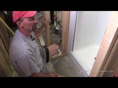 shower - Shannon from http://www.house-improvements.com shows you how to install a one-piece fiberglass shower unit.