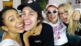Liza and I compete against Dom and Corinna for a try not to laugh challenge... but before we play we do a quick q and a! This is the place to go if you want some real relationship advice. Subscribe to everyone: Liza: https://www.youtube.com/channel/UChoTvF02Cv74FF72OaJtTMA Dom: https://www.youtube.com/user/DurteDom Corinna: https://www.youtube.com/channel/UCcedwvr7BdBSzTnCouzG-yQ/videos BUY THE SHIRT I MADE WITH LIZA: https://fanjoy.co/collections/david-dobrik?sort_by=best-selling  GO LISTEN TO OUR PODCAST: https://itunes.apple.com/us/podcast/views-with-david-dobrik-and-jason-nash/id1236778275?mt=2SUBSCRIBE TO MY MAIN CHANNEL: https://www.youtube.com/watch?v=FLwF2trf6sYMy Social Medias:Twitter: @DavidDobrikInstagram: @DavidDobrikSnapchat: @DavidDobrikVine: @DavidDobrikMusically: @DavidDobrik