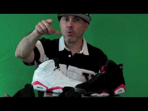 0 Air Jordan VI Infrared Pack   Side By Side Comparison Video