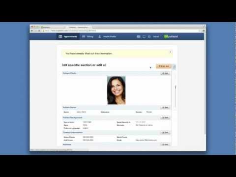 Video of onpatient Medical Record PHR