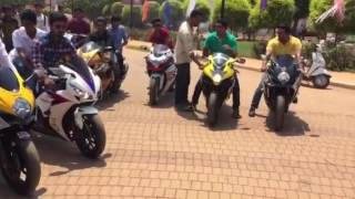 Hubli India  City pictures : Hubli Superbikers revvs and burnouts,India.