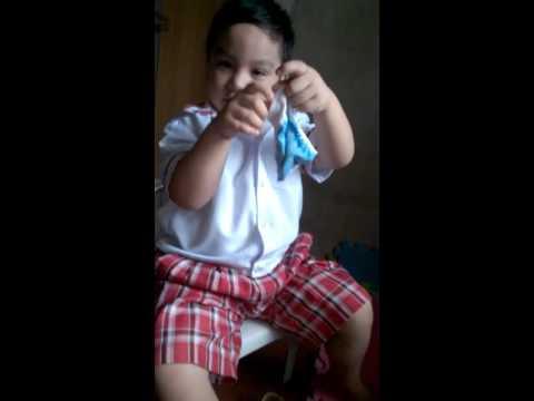 Baby wearing his socks