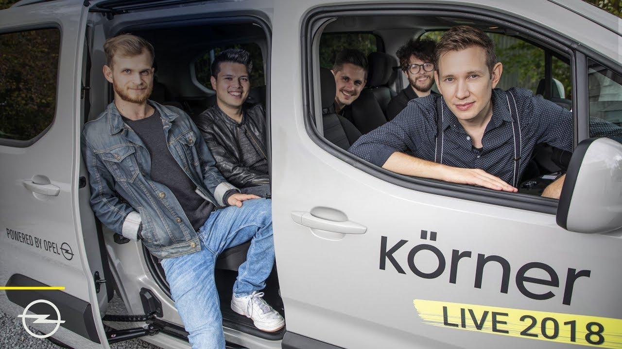 Newcomer: Sänger Körner mit Opel auf Deutschland-Tour