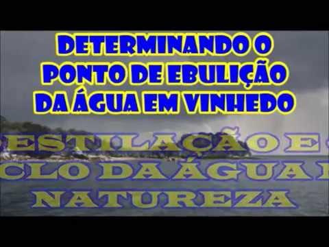 PONTO DE EBULIÇÃO DA ÁGUA EM VINHEDO - DESTILAÇÃO E O CICLO DA ÁGUA NA NATUREZA - PARTE 1