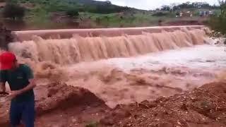 Barragem rompe no Sertão da Paraíba