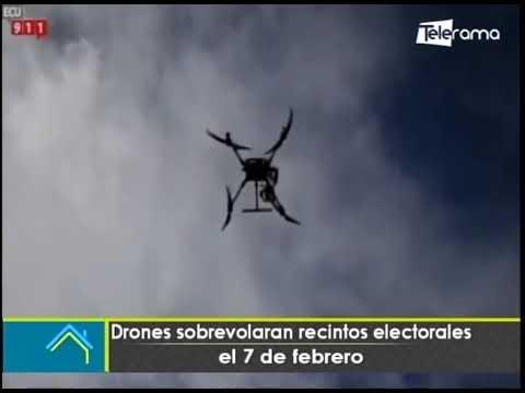 Drones sobrevolarán recintos electorales el 7 de febrero