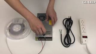 How to Connect LED Strip to Non-Waterproof LED Transformer S-Series