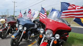 Hogs for Heroes & Uke's Present Veteran Hero Brian Kvitek with a Harley-Davidson